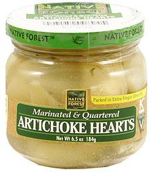 artichoke hearts marinated & quartered Native Forest Nutrition info