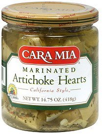 artichoke hearts marinated Cara Mia Nutrition info