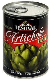 artichoke hearts quartered Festival Nutrition info
