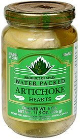 artichoke hearts water packed Marin Brand Nutrition info