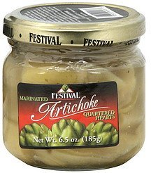 artichoke marinated, quartered hearts Festival Nutrition info
