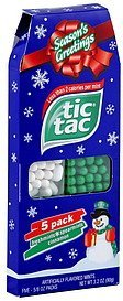 artificially flavored mints Tic Tac Nutrition info