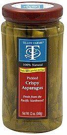 asparagus crispy, pickled Tillen Farms Nutrition info