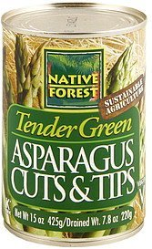 asparagus cuts & tips Native Forest Nutrition info