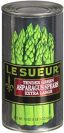 asparagus spears tender green extra large Le Sueur Nutrition info