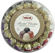 assorted chocolates gold selection Valor Chocolates Nutrition info