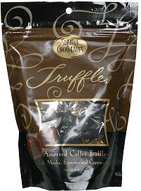 assorted coffee truffles Seattle Chocolates Nutrition info