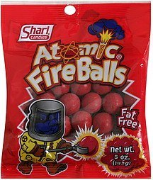 atomic fire balls Shari Candies Nutrition info