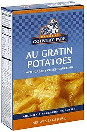 au gratin potatoes Midwest Country Fare Nutrition info