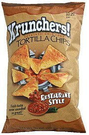 authentic gold corn tortilla chips restaurant style Krunchers! Nutrition info
