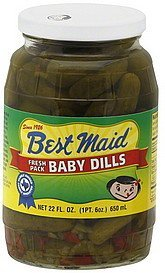 baby dills fresh pack Best Maid Nutrition info
