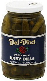 baby dills fresh pack Del-Dixi Nutrition info