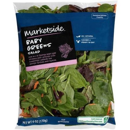 baby greens salad Marketside Nutrition info