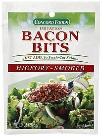 bacon bits imitation, hickory-smoked Concord Foods Nutrition info