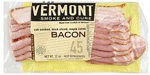 bacon cob smoked, thick sliced, maple cured Vermont Smoke and Cure Nutrition info