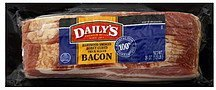 bacon hardwood smoked, honey cured, thick sliced Dailys Nutrition info