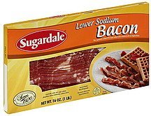 bacon lower sodium Sugardale Nutrition info