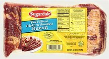 bacon thick sliced hickory smoked Sugardale Nutrition info