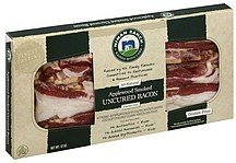 bacon uncured, center cut, applewood smoked Niman Ranch Nutrition info