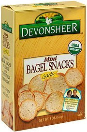 bagel snacks mini, garlic Devonsheer Nutrition info
