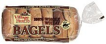 bagels 100% whole wheat Village Hearth Nutrition info