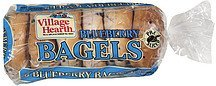 bagels blueberry Village Hearth Nutrition info