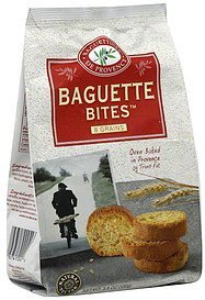 baguette bites 8 grains Natural Nectar Nutrition info