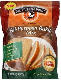 bake mix all-purpose Nutrition First Nutrition info