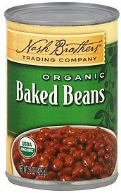 baked beans organic Nash Brothers Trading Company Nutrition info