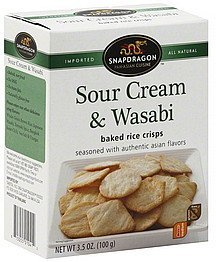 baked rice crisps sour cream & wasabi, medium Snapdragon Nutrition info