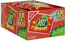 baked snack crackers cheddar, dinosaurs Ritz Nutrition info
