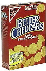 baked snack crackers Better Cheddars Nutrition info
