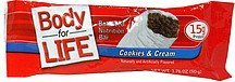 balanced nutrition bar nutrition bar, cookies and cream Body for Life Nutrition info