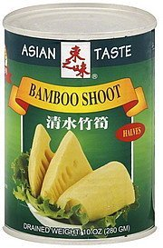 bamboo shoot halves Asian Taste Nutrition info