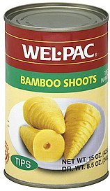 bamboo shoots tips Wel-pac Nutrition info