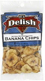 banana chips Its Delish Nutrition info