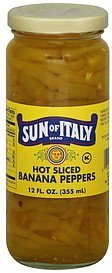 banana peppers hot sliced Sun of Italy Nutrition info