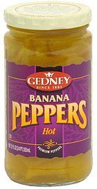 banana peppers hot Gedney Nutrition info