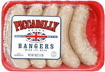 bangers english style with 10% rusk Piccadilly Nutrition info