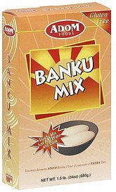 banku mix Adom Foods Nutrition info