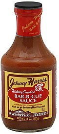 bar-b-cue sauce hickory smoked Johnny Harris Nutrition info