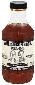bar-b-q sauce original Williamson Bros Nutrition info