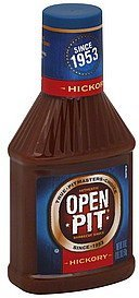 barbecue sauce hickory Open Pit Nutrition info