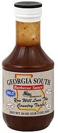 barbecue sauce mild Georgia South Nutrition info