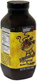 barbecue sauce original Weber Nutrition info