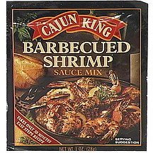 barbecued shrimp sauce mix Cajun King Nutrition info