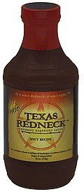 barbeque sauce gourmet, spicy recipe, hot Texas Redneck Nutrition info