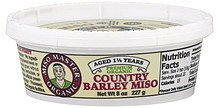 barley miso premium, organic, country Miso Master Nutrition info