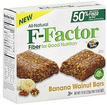 bars banana walnut F-Factor Nutrition info