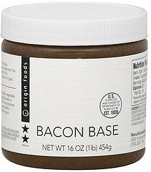 base bacon Origin Foods Nutrition info